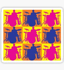 Pop Art Drummer Sticker