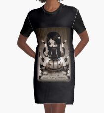 Halloween Doll Graphic T-Shirt Dress