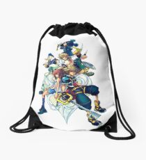 Kingdom Hearts 2 - Characters cover Drawstring Bag