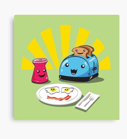 Happy Breakfast Fun Time Canvas Print