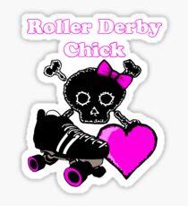 Roller Derby Chick (Pink) Sticker