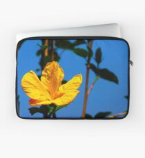 Yellow Hibiscus at State Capitol Laptop Sleeve