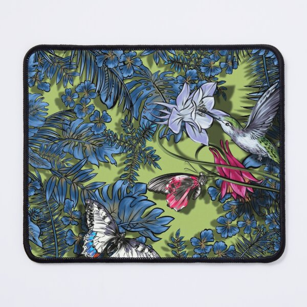 Spring.plant,forest,biology,butterfly,flowers and birds Mouse Pad