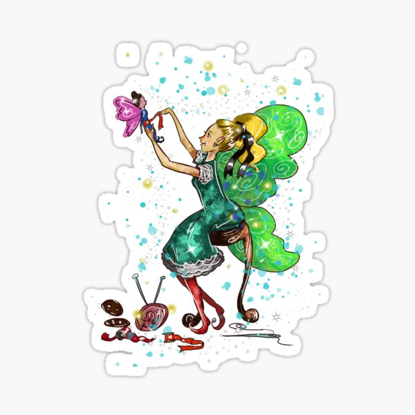 Fabiana The Handmade Fairies Fairy Sticker
