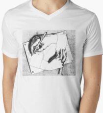 Souvenir from Netherlands - Escher's hands Men's V-Neck T-Shirt