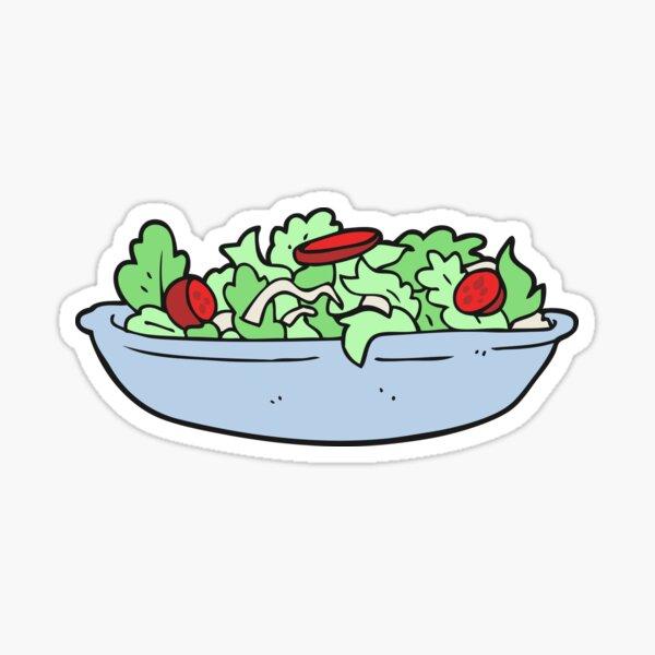 cartoon salad Sticker