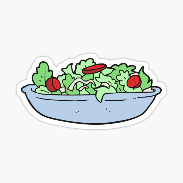 cartoon salad Sticker