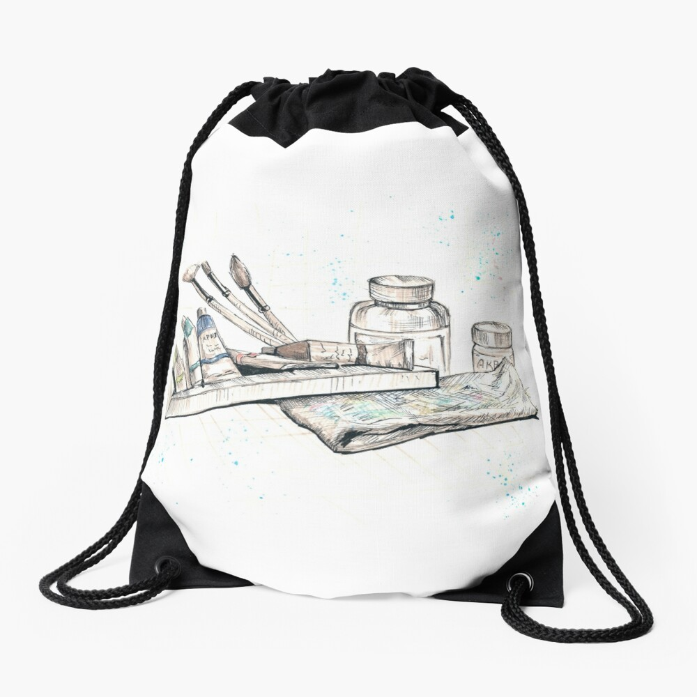 Art Drawstring Bag Front