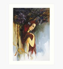 Withered wings Art Print