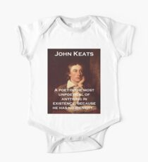 A Poet Is The Most Unpoetical - John Keats One Piece - Short Sleeve