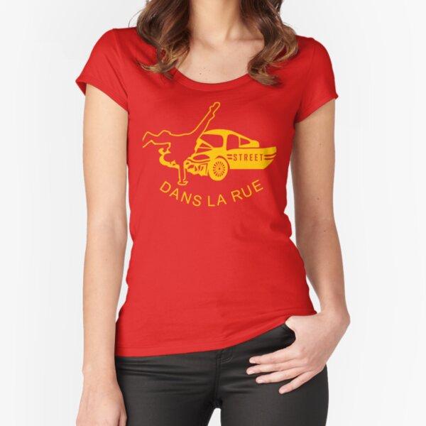 """Dans La Rue"" Fitted Scoop T-Shirt"