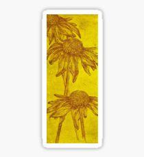 Yellow Ox-eye Daisies Etching  Sticker