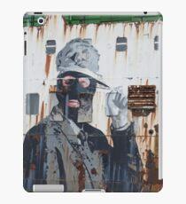 Gangster in a ski mask Criminal Graffiti photograph iPad Case/Skin