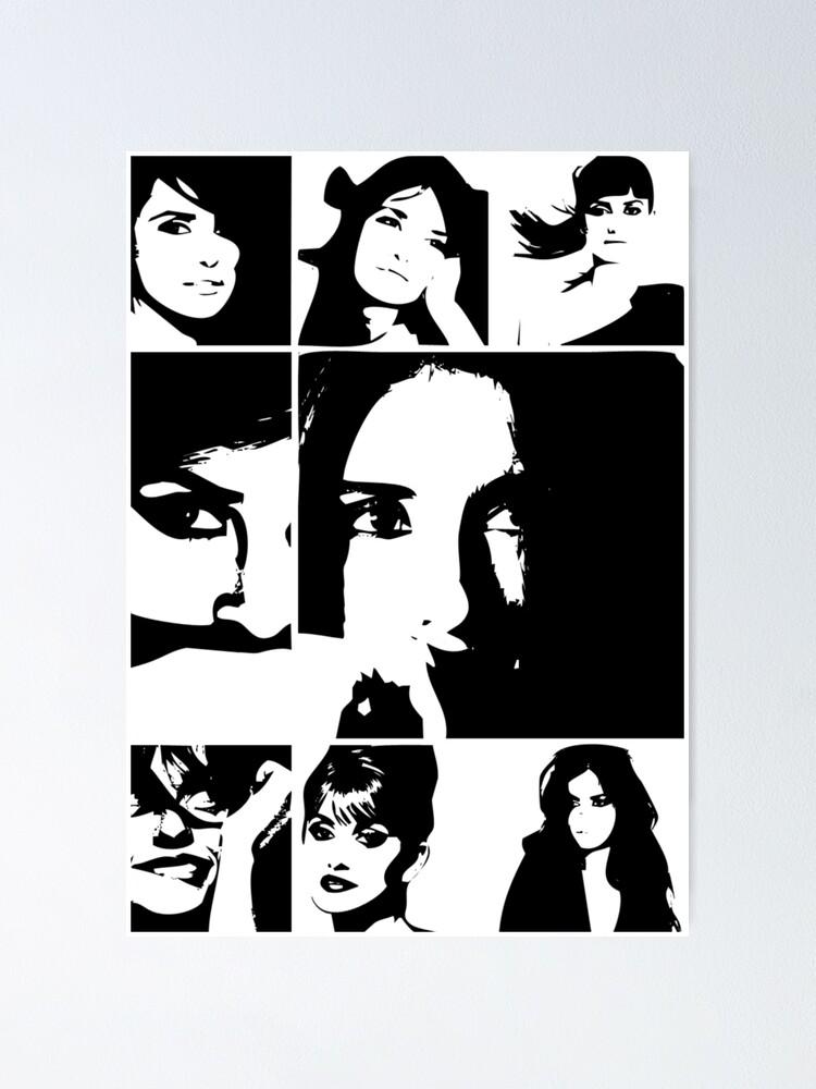 CANVAS Penelope Cruz Art print POSTER