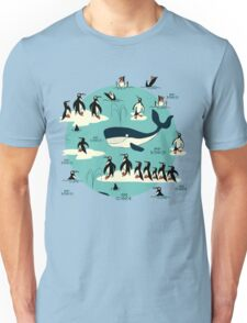 Whales, Penguins and other friends Unisex T-Shirt