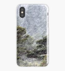 9.11.2016: Pine Trees in Snowstorm III iPhone Case/Skin