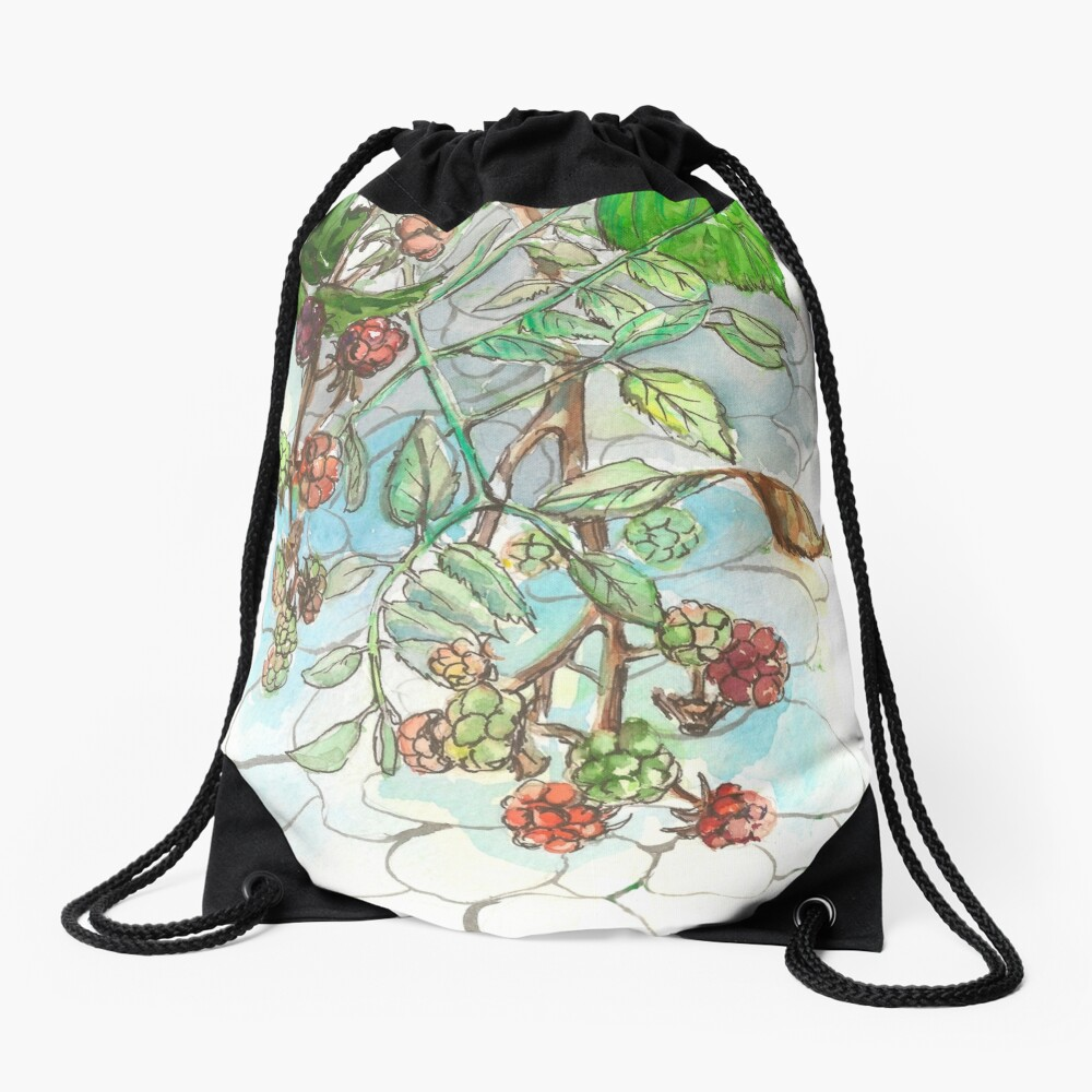 Blackberry Drawstring Bag Front