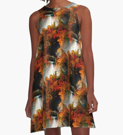 Abstract Light And Colors A-Line Dress