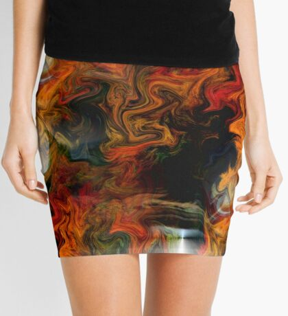 Abstract Light And Colors Mini Skirt