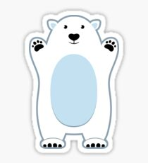 Cute Polar Bears Sticker