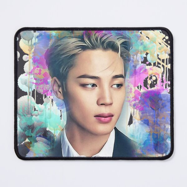 BTS Park Jimin colorful art Mouse Pad