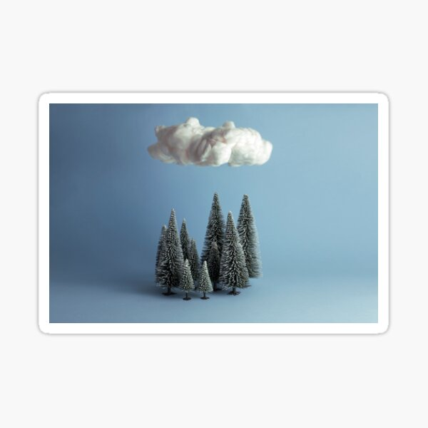 A cloud over the forest Pegatina
