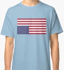 UPSIDE DOWN AMERICAN FLAG Distress Signal Classic T-Shirt