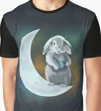 Moon rabbit Graphic T-Shirt