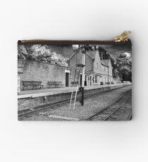 Alston Railway Station Black and White Studio Pouch