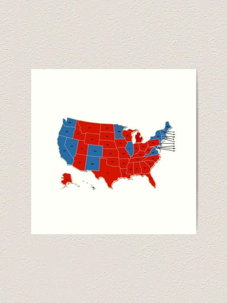 Donald Trump 45 Us Prasident Usa Karten Wahl 2016 Kunstdruck