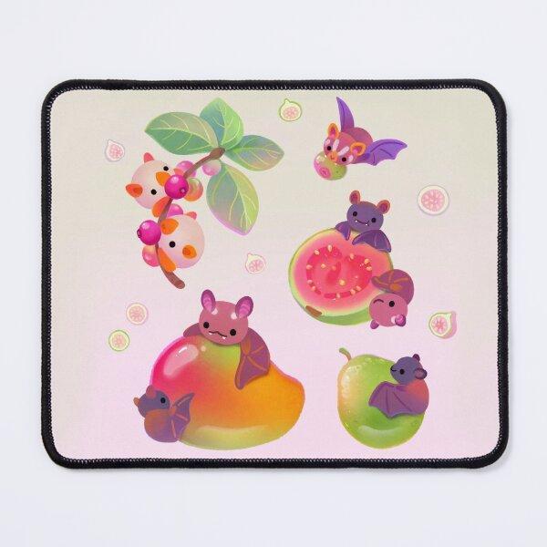 Fruit and bat - pastel Mouse Pad