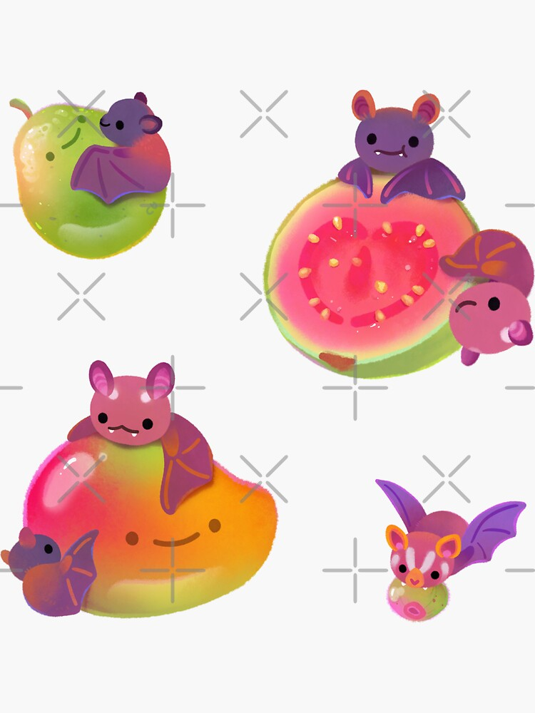 Fruit and bat - pastel by pikaole
