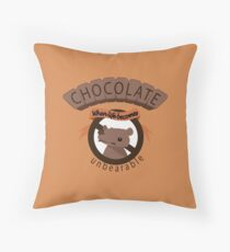 The unbearable sweetness of chocolate Throw Pillow