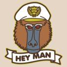 Hey Man Baboon by DetourShirts