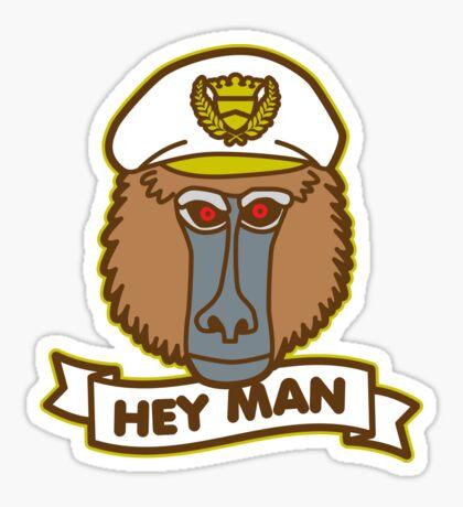 Hey Man Baboon Sticker