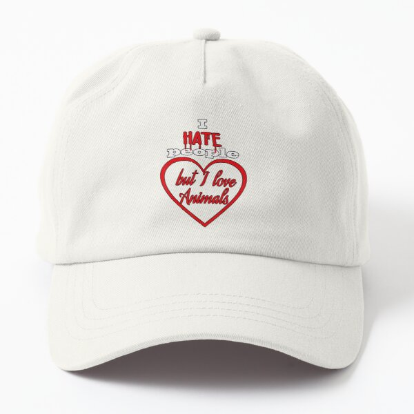 I Hate People But Love Animals Cat Dog Lovers Women Vegan Dad Hat