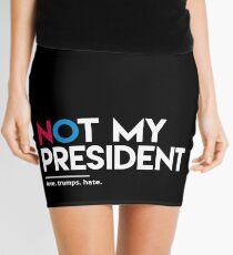 Not My President (Love Trumps Hate) Mini Skirt