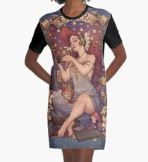 Gamer girl Nouveau Graphic T-Shirt Dress
