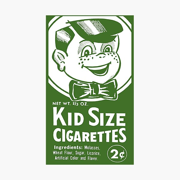 KID SIZE CIGARETTES - PACKAGING Photographic Print