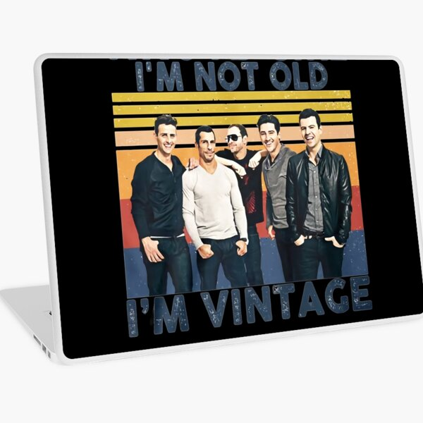 NKOTB Girl I&x27;m NOT Old I&x27;m Vintage T-Shirts Gift For Fans, For Men and Women, Gift Hallowe Laptop Skin