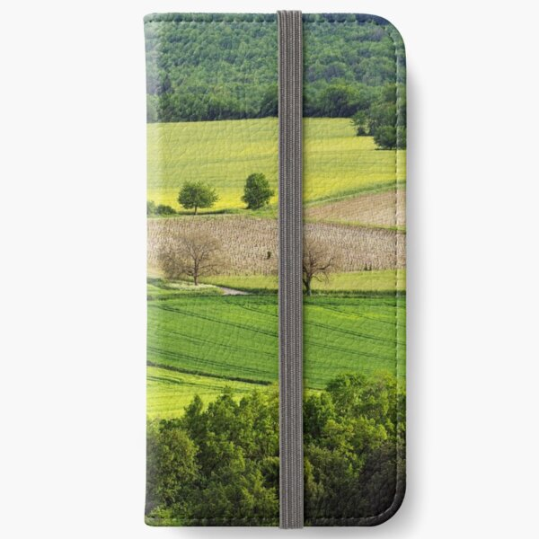 Springtime in the countryside iPhone Wallet