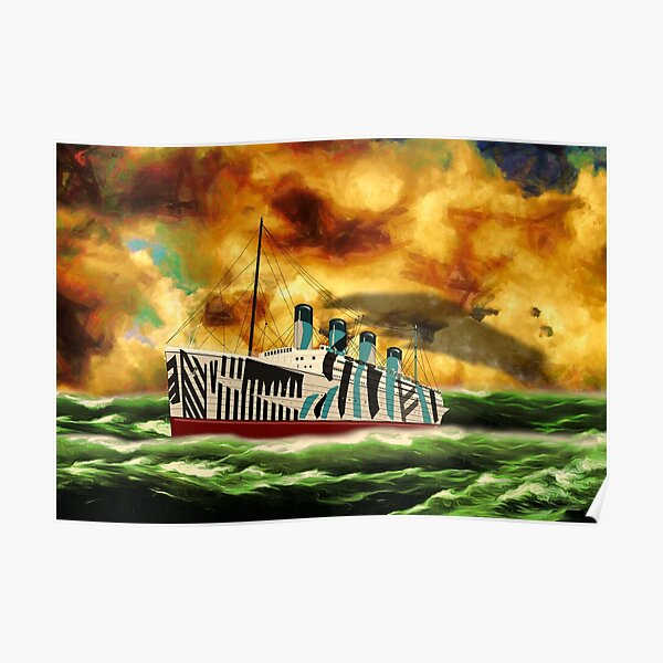 RMS Olympic, in camouflage paint 1911 to 1936 Poster