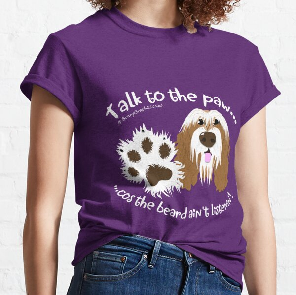 Talk to the paw brown beardie Classic T-Shirt