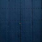 Dark Blue Boathouse Door Costa Brava Spain by pjwuebker
