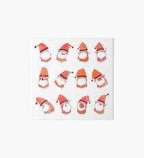 Happy Little Santas Art Board