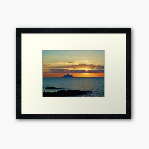 Sunset over Ailsa Craig Framed Art Print