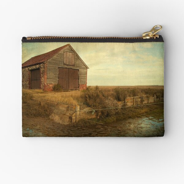 Coal Shed, Thornham, Norfolk Zipper Pouch