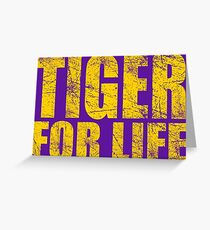 Tiger for Life -Gold and Purple Greeting Card