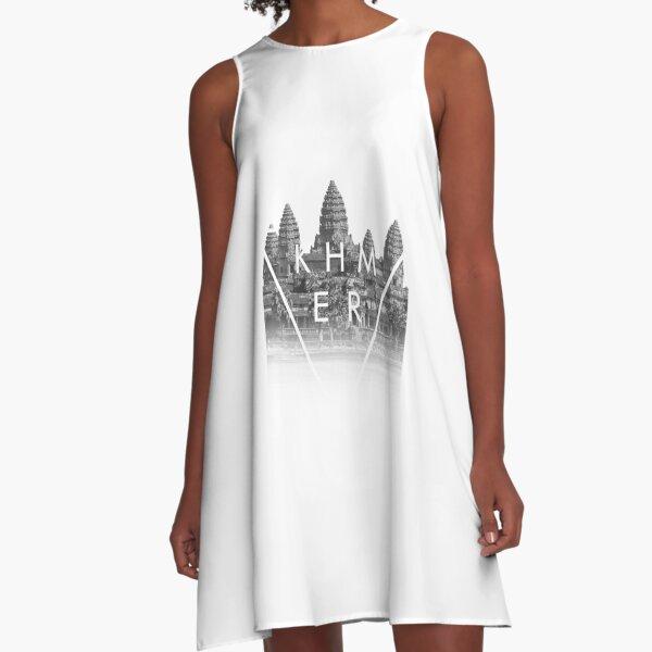 Khmer Cambodian Aesthetic Angkor Wat A-Line Dress