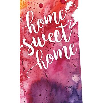 Saskatchewan Watercolor Map - Home Sweet Home Hand Lettering  by AndreaHill